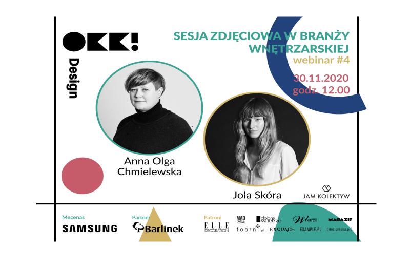 Sesja zdjęciowa w branży wnętrzarskiej – webinarium OKK!design z JAM KOLEKTYW
