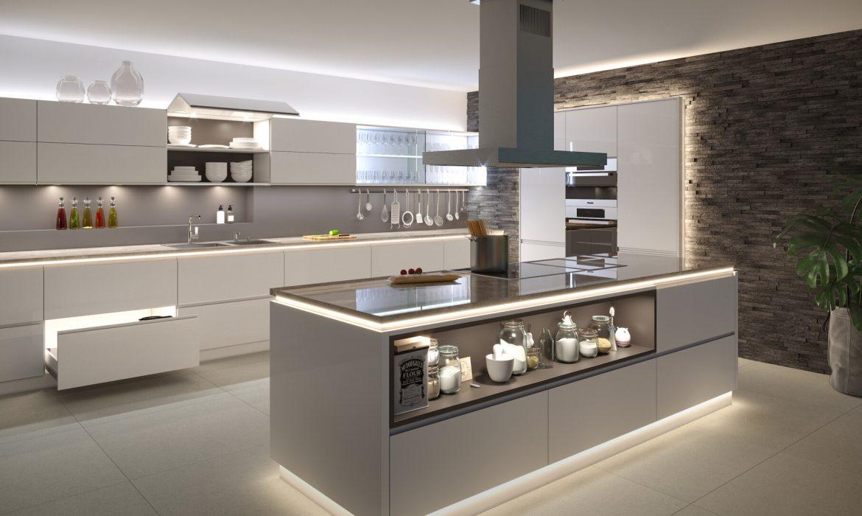 Świetlne trendy 2021: kuchnia w paski