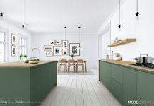 Kuchnia w drewnie i kolorze